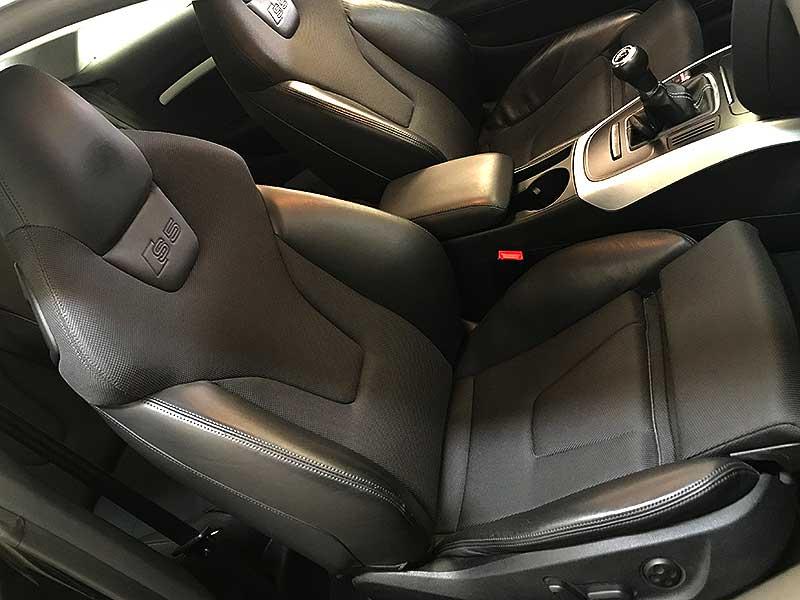 carsmultimarca.com, Audi s5 Quattro 4.2fsi, vista interior de asientos.