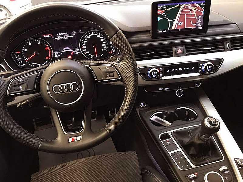 AUDI A4 S Line, carsmultimarca.com, vista interior mandos.