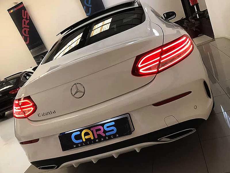 MERCEDES BENZ C220cdi Coupe AMG, carsmultimarca.com, vista posterior.