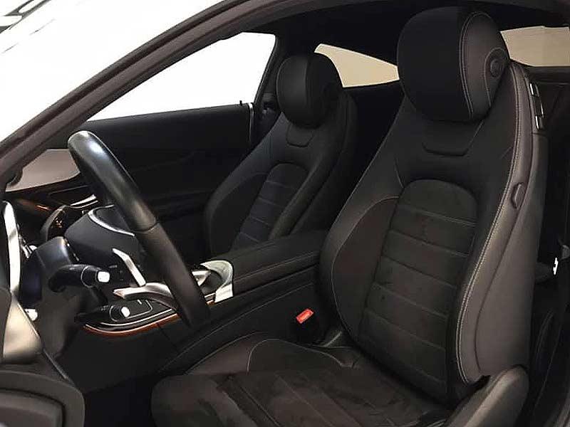 MERCEDES BENZ C220cdi Coupe AMG, carsmultimarca.com, vista de asientos.