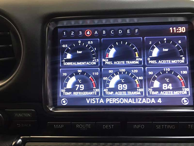 NISSAN GT-R Black Edition, carsmultimarca, vista controles