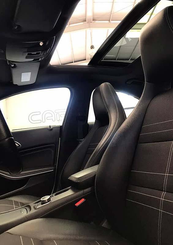 MERCEDES BENZ CLA, carsmultimarca, vista de asientos y techo solar
