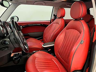 vista de asientos delanteros