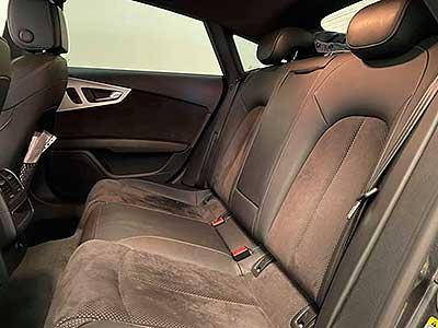 vista de asientos posteriores